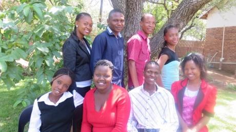 (Back) Tshego, Tshepang, Edwin, Neo (Front) Lebo, Nyani, Richard, Thapelo